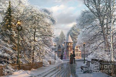 Christmas Tree Digital Art - Christmas Invitation by Dominic Davison