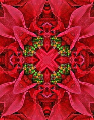 Christmas Kaleidoscope IIi Print by Dawn Currie