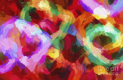 Christmas Light Abstract Print by Darren Fisher