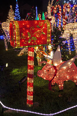 Flying Pig Photograph - Christmas Mailbox by Garry Gay