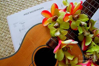 Ukulele Photograph - Christmas Mele by Mary Deal