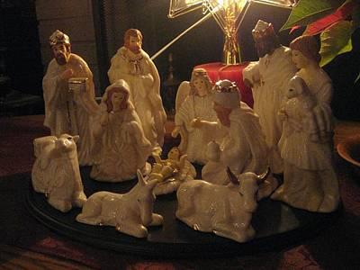 Joesph Photograph - Christmas Nativity Of Baby Jesus by Elisabeth Ann