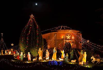 Christmas Nativity Scene Print by Ram Vasudev