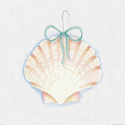 Shell Pastel Painting - Christmas On The Coast II by Elyse Deneige