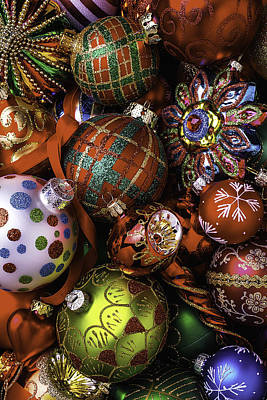Christmas Ornament Collection Print by Garry Gay