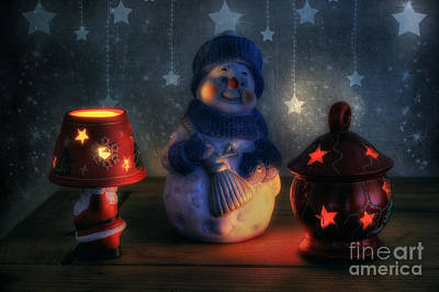 Christmas Ornaments Print by Ian Mitchell