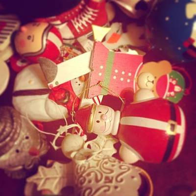 Christmas Ornaments Print by Kay Pickens