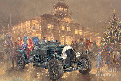 Winter Fun Painting - Christmas Party At Brooklands by Peter Miller