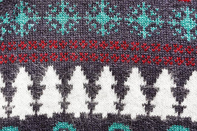 Textiles Photograph - Christmas Pattern  by Tom Gowanlock
