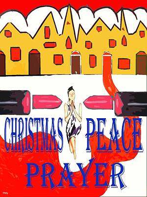 Religious Art Mixed Media - Christmas Peace by Patrick J Murphy