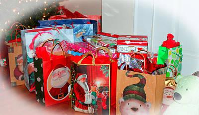 Christmas Presents Print by Cynthia Guinn