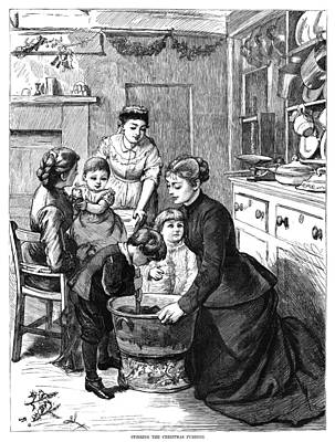 Holly Mother Painting - Christmas Pudding, 1876 by Granger