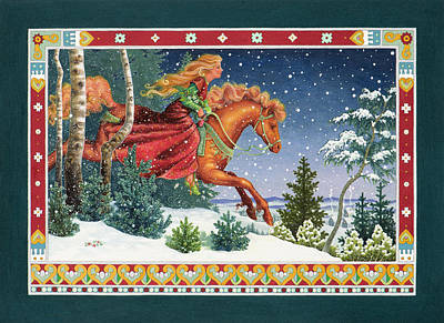 Tale Painting - Christmas Ride by Lynn Bywaters