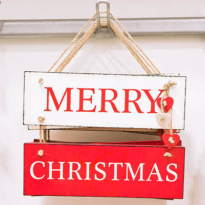 Christmas Sign Print by Tom Gowanlock