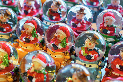 Christmas Snow Globes, Finland Print by Peter Adams
