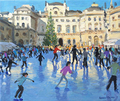 Winter Fun Painting - Christmas Somerset House by Andrew Macara