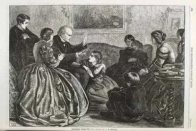 Christmas Story Telling Print by British Library