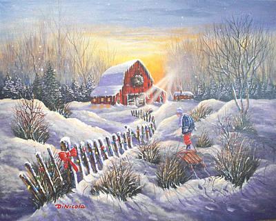 Christmas Sunrise Print by Anthony DiNicola
