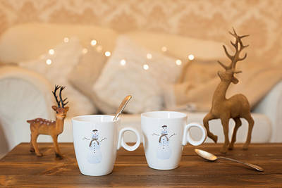 Deer Photograph - Christmas Teabreak by Amanda Elwell