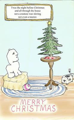 Christmas Toaster Print by Alan McCormick