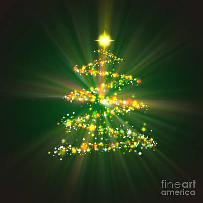 Christmas Tree Print by Atiketta Sangasaeng