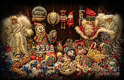 Christmas Tree Ornaments Print by Lee Dos Santos