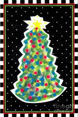 Christmas Tree Polkadots Print by Genevieve Esson