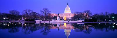 Christmas, Us Capitol, Washington Dc Print by Panoramic Images