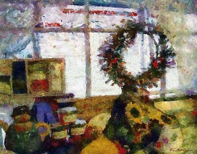 Christmastime Folk Art Fantasia Print by RC deWinter