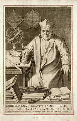 Christopher Clavius Print by Joseph Muller Collection /new York Public Library