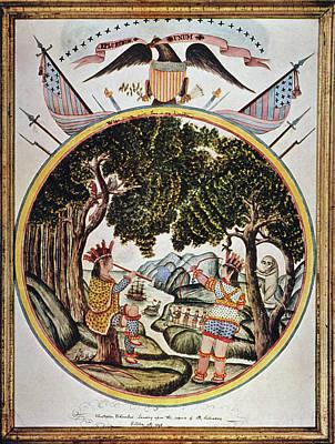 Patriotic Painting - Christopher Columbus Landing On San by Granger
