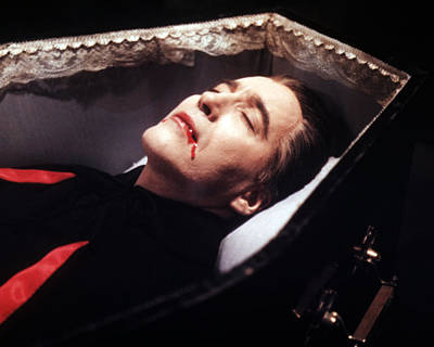 Dracula Photograph - Christopher Lee In Dracula  by Silver Screen
