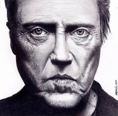 Christopher Drawing - Christopher Walken by Rick Fortson