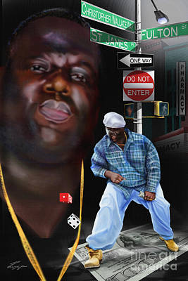 Rapper Painting - Christopher Wallace Way - Biggie by Reggie Duffie
