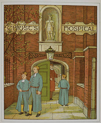 Blue Coat Photograph - Christ's Hospital by British Library