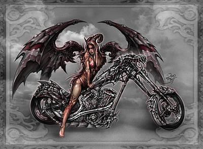 Reaper Digital Art - Chrome Dragon by David Bollt