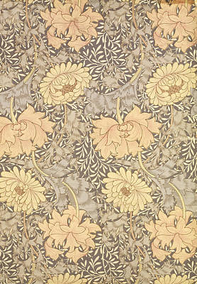 Chrysanthemum Print by William Morris