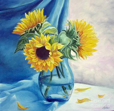 Chrysanthemums Print by Sorin Apostolescu