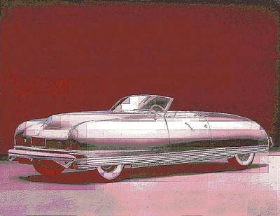 Chrysler 50's Concept Print by John Madison
