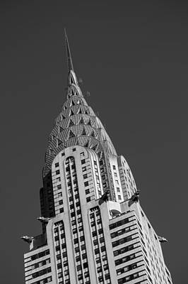 Chrysler Building Bw Print by Susan Candelario