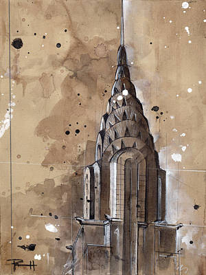 Chrysler Building Drawing - Chrysler Building by Sean Parnell