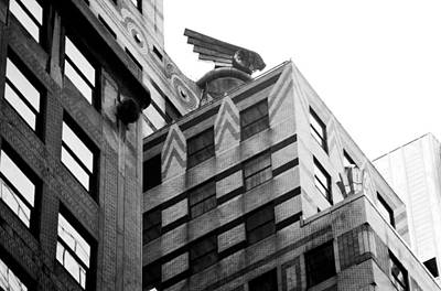 Chrysler Building Drawing - Chrysler Building Winged Eagle by David M Davis