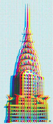 Chrysler Building Digital Art - Chrysler Pop Art by Gary Grayson