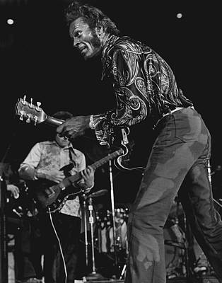 Talented Photograph - Chuck Berry by Retro Images Archive