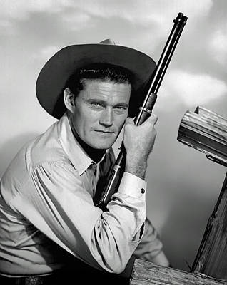 Black And White Photograph - Chuck Connors - The Rifleman by Mountain Dreams