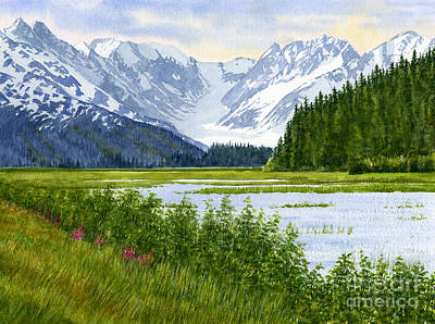 Chugach Glacier View Print by Sharon Freeman