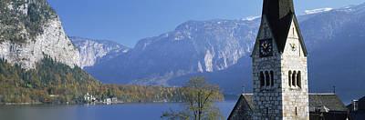 Hallstatt Photograph - Church At The Lakeside, Hallstatt by Panoramic Images