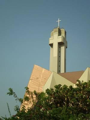 Photograph - Church Cross Steeple  by Cherie Haines