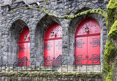 Church Doors Print by Niels Nielsen