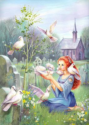 Cinderella Photograph - Church Doves by Zorina Baldescu